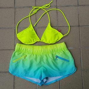 OP 2 Piece Bathing Suit Bikini & Short Set